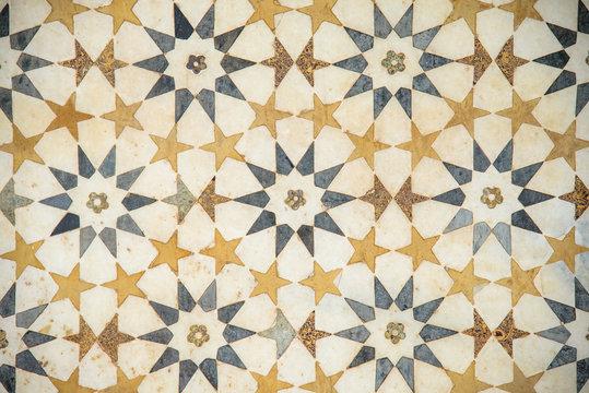 pattern of the floor of Baby Taj (Itmad-ud-Daula), Agra