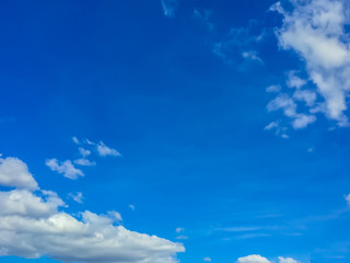 Clear blue sky in the morning with cloudy as a background wallpaper, pastel sky wallpaper