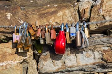 Love into a padlock