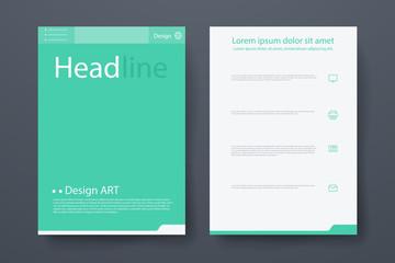 Vector brochure, flyer, magazine cover poster template. brochures, presentations, leaflet, a4 size.