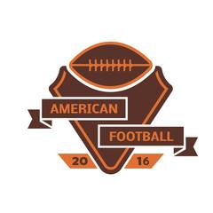Football championship label vector.