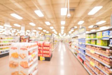 Pasta aisle blur