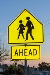 School Crossing Evening