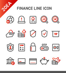 Banking Line Icon Set