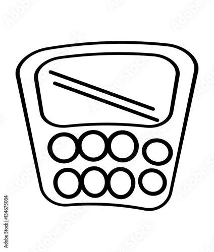 """calculator class supplies school outline vector ..."
