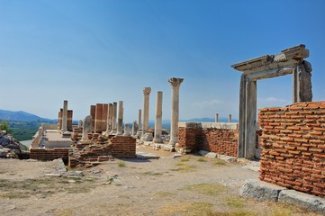 Ruins of st. Johns Basilica at Selcuk Ephesus izmir Turkey