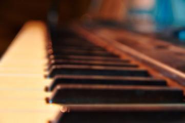 Blurred of Piano keyboard background