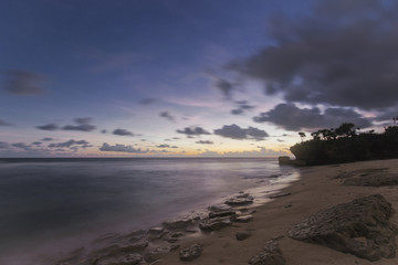 Lonely beach in Evening