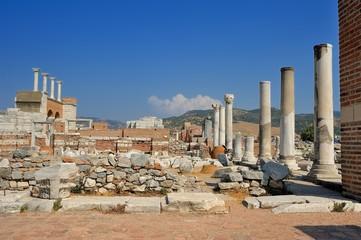 Ruins of st. Johns Basilica at Selcuk Ephesus izmir Turkey