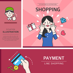 Shopping Situation Illustration