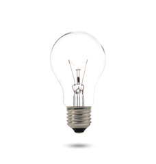Compact Fluorescent Lamp with lighting on the white background