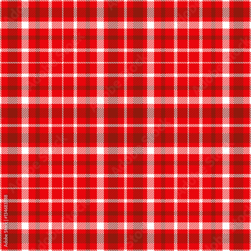 Seamless tartan plaid pattern in white and dark red stripes on bright red  background. Checkered twill fabric texture print. Vector swatch for digital  ... 1621ed219