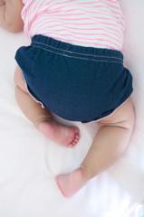 Starting to crawl baby girl