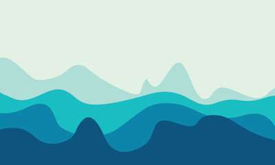 abstract ocean waves background with abstract waves