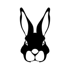 rabbit face vector illustration style Flat