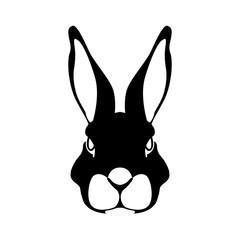 rabbit face vector illustration style Flat