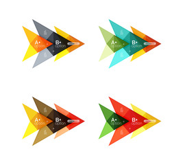 Colorful vector option banner arrow templates, infographic layouts