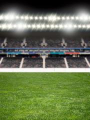 spotlights at the soccer arena