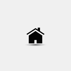 Vector home icon. Flat design on a white background