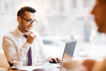 Young Entrepreneur Using Video Call