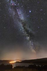 Milky Way on Krk island, Croatia