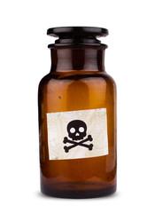 poison bottle isolated on white
