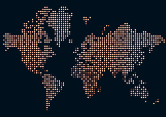 Planisphère - Races - Humanité - Population - Cosmopolite