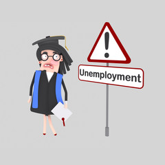 Graduate student looking worried for a job Easy combine! Custom 3d illustration contact me!