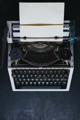 Melal detail of old series typewriter machine