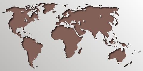 Planisphère - Carte du monde - Graphique