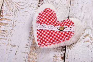 handmade fabric heart for valentines