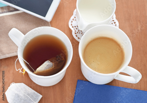 kaffee oder tee stock photo and royalty free images on pic 134707818. Black Bedroom Furniture Sets. Home Design Ideas