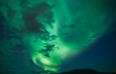 Northern lights background in Abisko