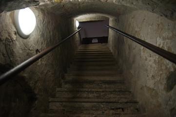Enger Stiegenaufgang