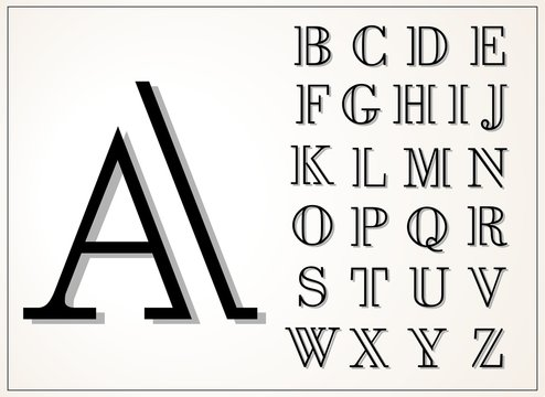 A light and elegant display font, lines of equal thickness