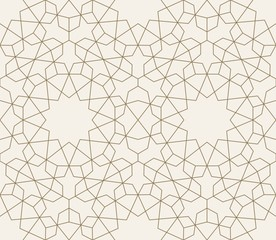Islamic geometric seamless pattern, background