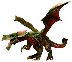 Wall Mural - Green dragon