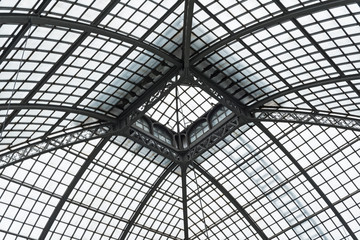 Palm house roof detail, detail showing steel beams and frame