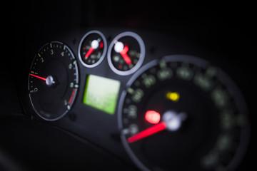 Illuminated car dashboard