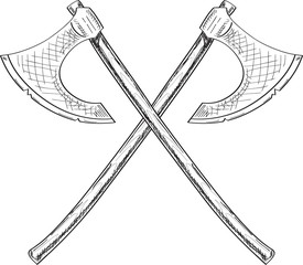 Cross viking axe