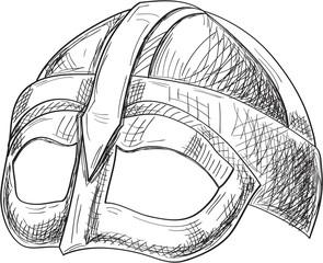 Side viking helmet