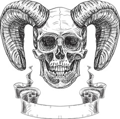 Inviting devil skull