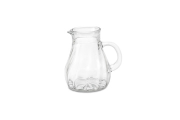 glass jug isolated on white background