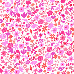 Vector seamless floral pattern. Flower print