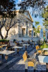 Malta, Valletta Barrakka Gardens - historic Stock Exchange Building - Parkside