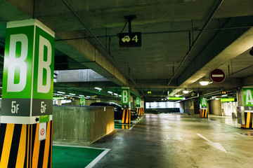 Car parking with sensors and electronic information displays