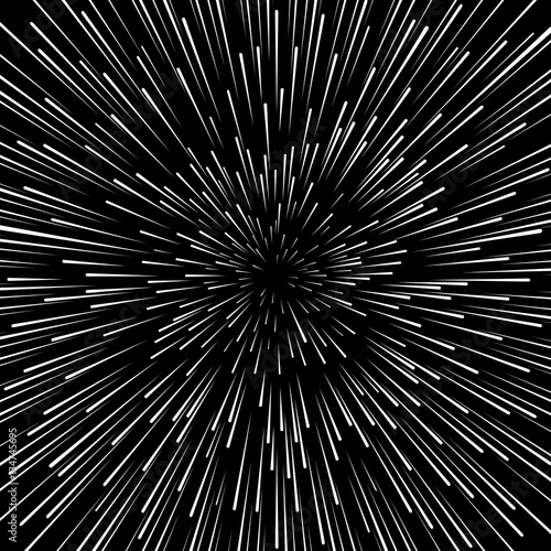 """Speed Warp Vector Background. Radiator Hyperspace Star"
