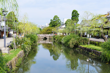 Yanagawa river canal in Japan
