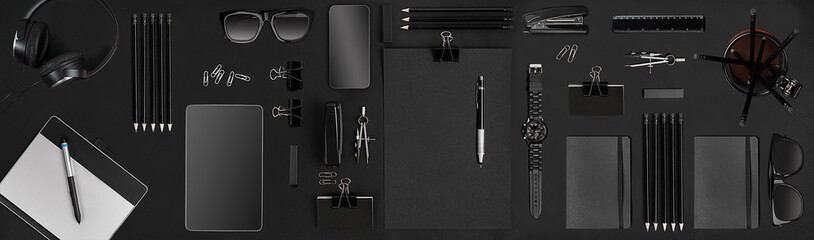 Creative black office items