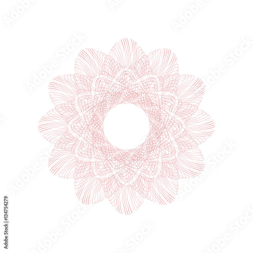 guilloche decorative rosette element digital watermark it can be
